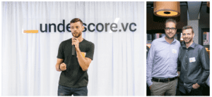 Right Image: Dries Buytaert (left) & DB Hurley (right) engaging at an Underscore Core event