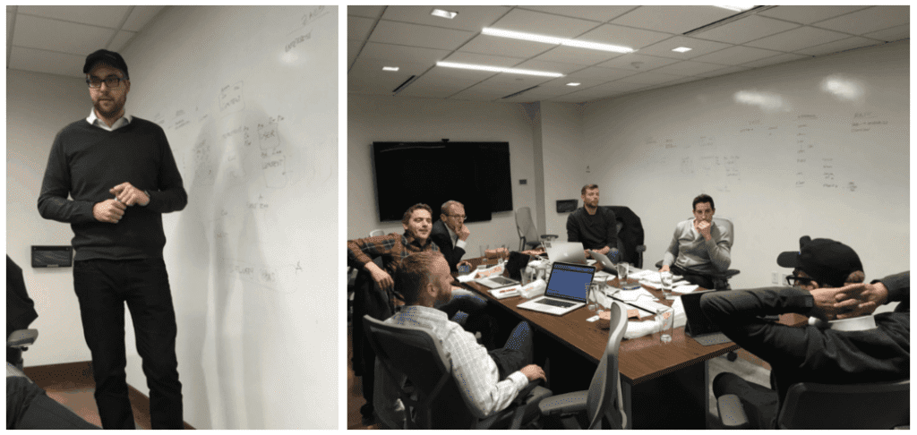 Because of Underscore's Core Community model, Dries is a Core Partner who was actually part of the Mautic investment decision we made. He's seen in the pictures above taken in 2016 at Acquia with DB and other members of the Underscore Marketing Core and Open Source Core who also invested in Mautic alongside us. There were 7 Core Partners and 15 Core Syndicate members who participated in Mautic alongside Underscore VC.