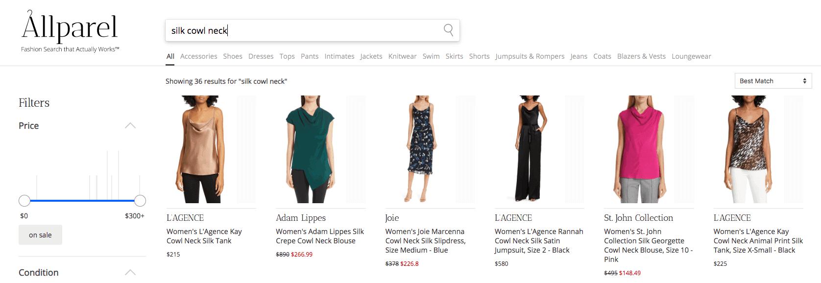 Allparel Product Search