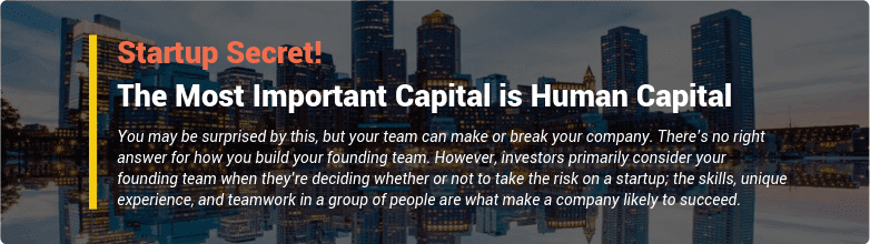 startup secret: the most important capital is human capital