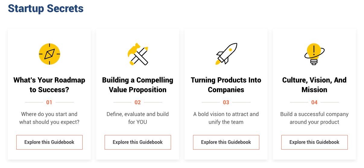 Startup Secrets Guidebooks