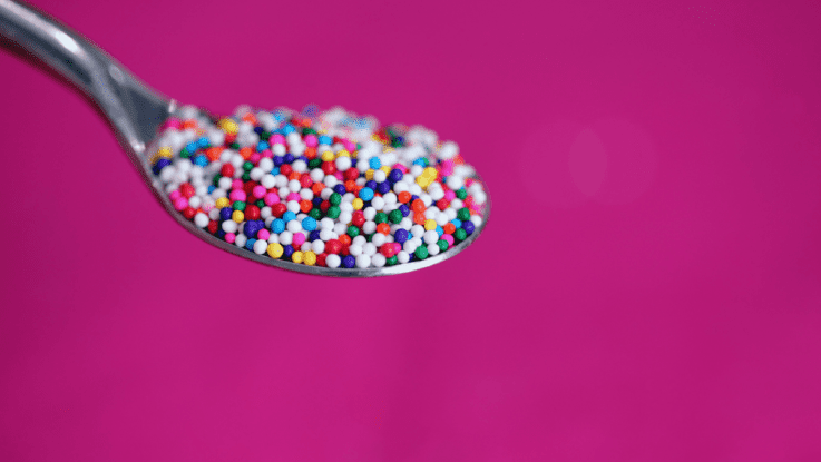 Blog Header Image: A Bunch of Tiny Sprinkles on a Spoon